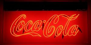 Letreiro neon Coca Cola